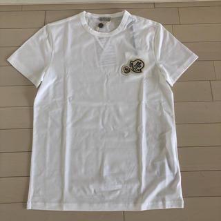 モンクレール(MONCLER)の【新品未使用】S モンクレール ワッペン ロゴ Tシャツ ホワイト(Tシャツ/カットソー(半袖/袖なし))