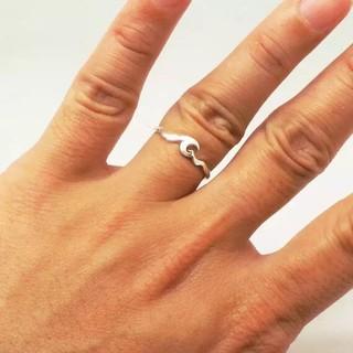 ロンハーマン(Ron Herman)のシルバー925 刻印有 wavering 波リング silver925 指輪(リング(指輪))