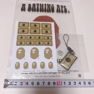 アベイシングエイプ(A BATHING APE)の非売品 ゴールド会員限定 bape  ステッカー  ストラップ キーホルダー (キーホルダー)
