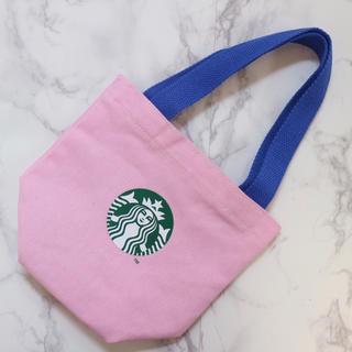 Starbucks Coffee - 【新品】台湾スターバックス タンブラーバッグ ミニトートバッグ ピンク サイレン
