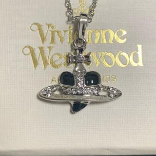 Vivienne Westwood - Vivienne Westwood ディアマンテ 黒 ハート オーブ ネックレス