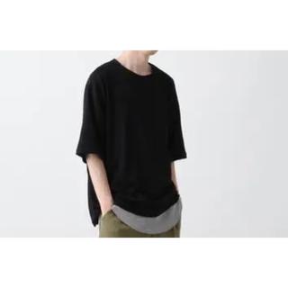 ハレ(HARE)のHARE リンクスカットソー 黒(Tシャツ/カットソー(半袖/袖なし))