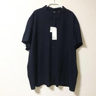 UNIQLO - ユニクロ レーヨンブラウス XLサイズ(半袖)【新品・未使用・タグ付き】