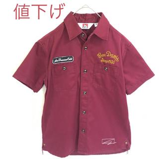 BEN DAVIS - 【美品】ベン デイビス ツイル ワークシャツ ワイン 刺繍 半袖 古着女子 人気