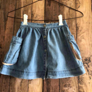 バーバリー(BURBERRY)の美品 バーバリー デニム スカート 110 インディゴ (スカート)