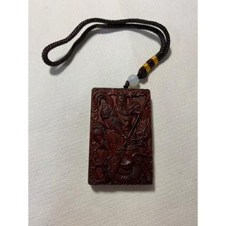 【高質感】三国志 関羽フィギュア 木彫り 義(彫刻/オブジェ)