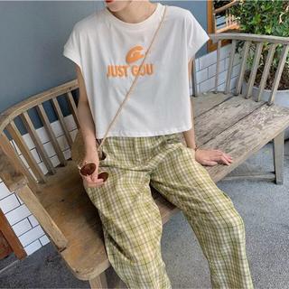 dholic - [ライトグリーン✨]チェック柄ワイドパンツ 韓国