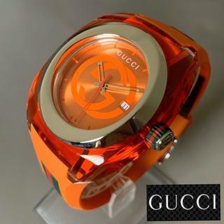 グッチ(Gucci)の【新品】激レア★希少カラー 箱付 グッチ GUCCI クオーツ メンズ腕時計(ラバーベルト)