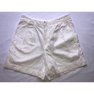 マカフィー(MACPHEE)のトゥモローランド MACPHEE マカフィー レース パンツ ショート ホワイト(ショートパンツ)