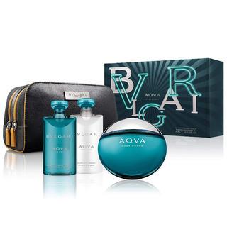 ブルガリ(BVLGARI)のブルガリ アクア 香水セット ポーチ付きAmazon12980円(ユニセックス)