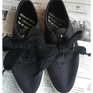 adidas - adidas スニーカー 黒 【中古】