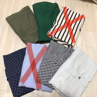 ユニクロ(UNIQLO)のシャツ Tシャツ まとめ売り セット売り ボーダー ドットシャツ チェックシャツ(シャツ)