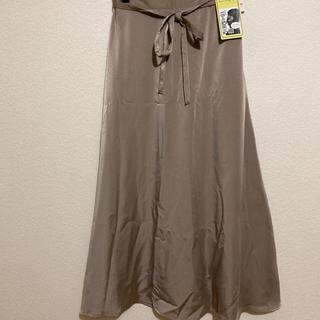 しまむら - AYAサテンスカート 中肌色 Lサイズ
