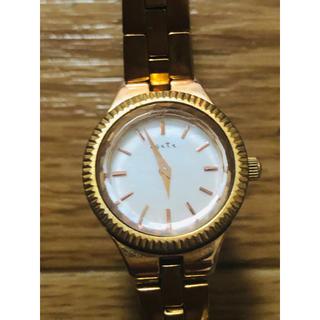 アガット(agete)のアガット agete 腕時計 シェル クオーツ ゴールド色 レディース(腕時計)