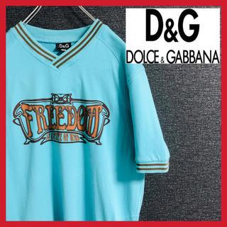 ドルチェアンドガッバーナ(DOLCE&GABBANA)のドルチェ&ガッバーナ Tシャツ 半袖 ビッグプリント イタリア製 ドルガバ(Tシャツ/カットソー(半袖/袖なし))