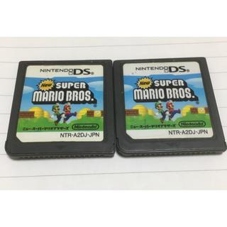 ニンテンドーDS(ニンテンドーDS)の【ジャンク品】DS NEWスーパーマリオブラザーズ2個(携帯用ゲームソフト)