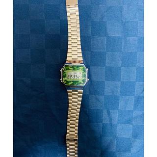 カシオ(CASIO)のCASIO A168WEC-3 カシオ 腕時計 グリーン 迷彩 海外モデル(腕時計(デジタル))