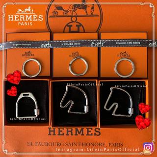 エルメス(Hermes)のHERMES ペンダントトップとしても使える シュバルとエトリエ キーリング(キーホルダー)