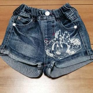 ディズニー(Disney)のディズニー☆ミニー デニムショートパンツ 80サイズ(パンツ)