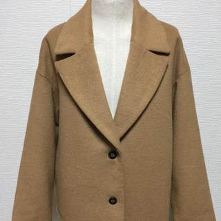 ジーユー(GU)のGU ロングコート キャメル ドロップショルダー(ロングコート)