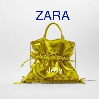 ザラ(ZARA)の【タグ付き新品】ザラ サテン ミニバッグ ショルダーバッグ(ショルダーバッグ)