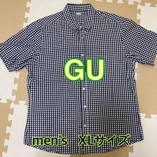 GU チェックシャツ 半袖シャツ メンズ XLサイズ