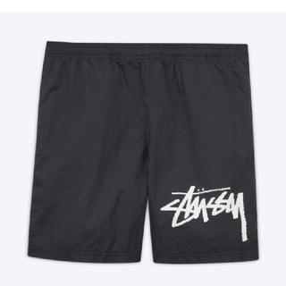 ステューシー(STUSSY)のLサイズstussy nike water shorts BLACK(ショートパンツ)
