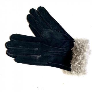 クレイサス(CLATHAS)の新品 豚革 本革 ブラック 黒 裏起毛 ボア 手袋(手袋)