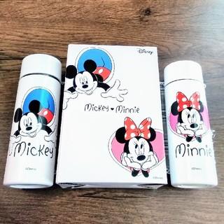Disney - 【新品未開封!】ミッキー&ミニー ミニボトル2本 ステンレスボトル ノベルティ