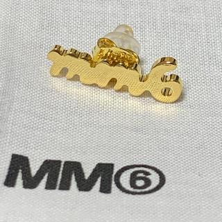 エムエムシックス(MM6)の新品 二個セット メゾンマルジェラ マルタンマルジェラ ゴールド ピアス 真鍮(ピアス)