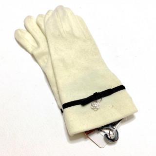 クレイサス(CLATHAS)の新品 あったか繊維 防寒 ニット ホワイト 手袋(手袋)