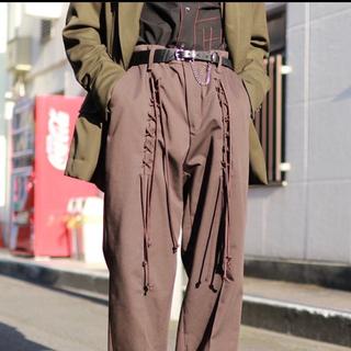 ジエダ(Jieda)のelephant TRIBAL fabrics RACE UP WORK PT(スラックス)