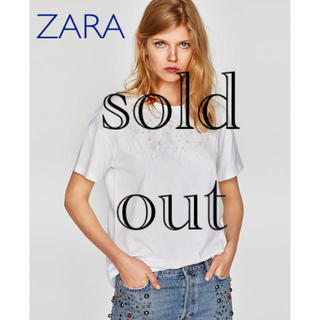 ZARA - sale!新品タグ付☆ZARA☆collectionパール刺繍チェーンステッチT