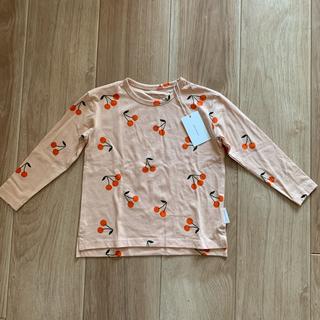 コドモビームス(こどもビームス)のtinycottons タイニーコットンズ  チェリー 長袖 Tシャツ(Tシャツ/カットソー)