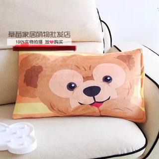 ダッフィー(ダッフィー)の日本未発売 ダッフィー  枕カバー ピロケース   ラス1(クッションカバー)