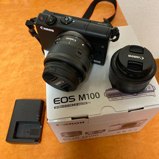 Canon - Canon EOS M100 Wレンズキット BK
