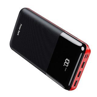 Gnceei モバイルバッテリー 大容量 25000mAh 急速充電 黒&赤(バッテリー/充電器)