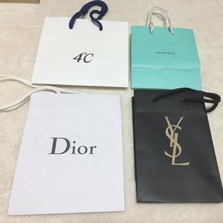 ディオール(Dior)のDior YSL 4°C Tiffany ブランド ミニ 紙袋(ショップ袋)
