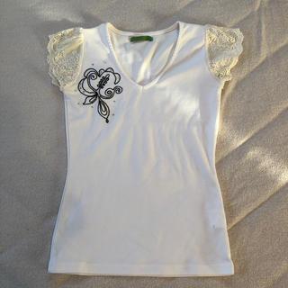 スコットクラブ(SCOT CLUB)のお袖レース Tシャツ カットソー SCOT CULB    SHREW.G(Tシャツ(半袖/袖なし))