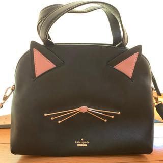 kate spade new york - ケイトスペード★大人気完売•レアで貴重なレザー黒猫2wayバッグ未使用