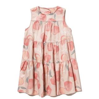 ジェラートピケ(gelato pique)のフルーツモチーフ kids ドレス ジェラートピケ  サイズM 120 130(ワンピース)