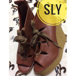 スライ(SLY)のSLY【新品、未使用】オープントゥ 厚底 ウェッジソール サンダル(サンダル)