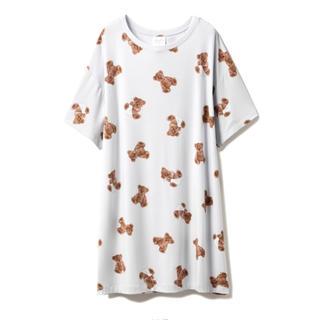 ジェラートピケ(gelato pique)のジェラートピケ ベアモチーフ 抗菌ドレス(ルームウェア)