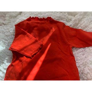 ドットアンドストライプスチャイルドウーマン(Dot&Stripes CHILDWOMAN)のチューリップ柄トップス(カットソー(半袖/袖なし))