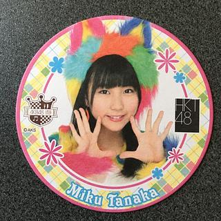 エイチケーティーフォーティーエイト(HKT48)のHKT48 田中美久 AKB48 CAFE&SHOP コースター(アイドルグッズ)