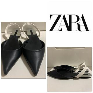 ザラ(ZARA)のZARA ブラックレザー パンプス(ハイヒール/パンプス)