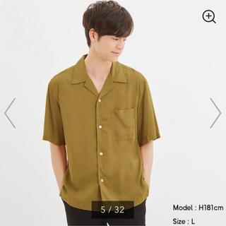 ジーユー(GU)の【GU】オープンカラーシャツ(5分袖)(シャツ)