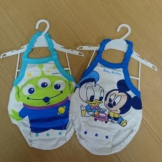 Disney - Disney ミッキー ドナルド 新生児 ロンパース 70-80㎝