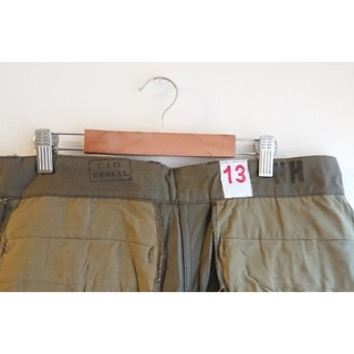マルタンマルジェラ(Maison Martin Margiela)の【デッドストック】フランス軍 M47 後期 13 サイズ カーゴパンツ(ワークパンツ/カーゴパンツ)