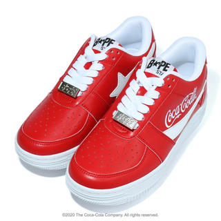 アベイシングエイプ(A BATHING APE)のAPE ×COCA COLA BAPE STA LOW RED (スニーカー)